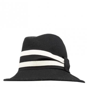 Cappello in lana con banda NERO