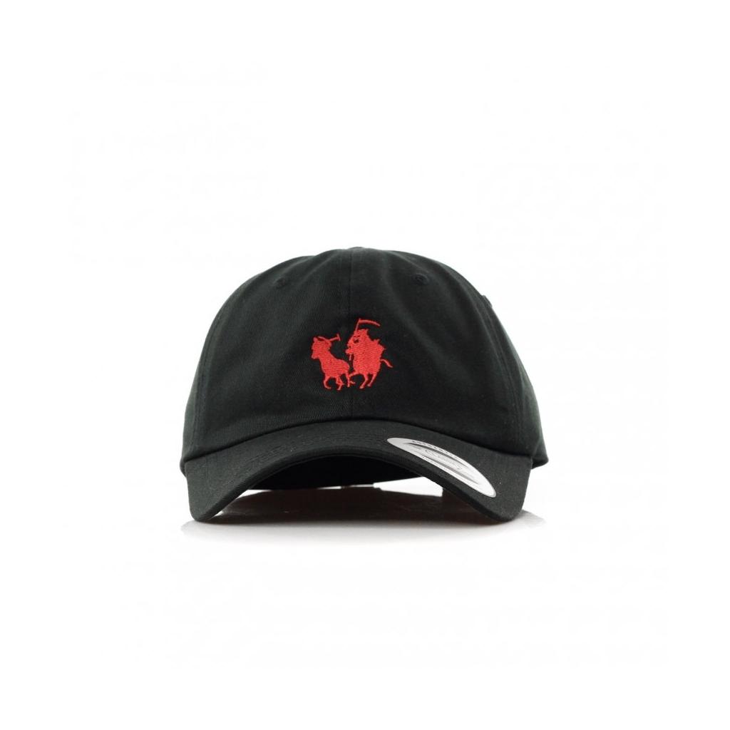 CAPPELLO VISIERA CURVA HUNT DAD HAT BLACK RED 37aff9237bf