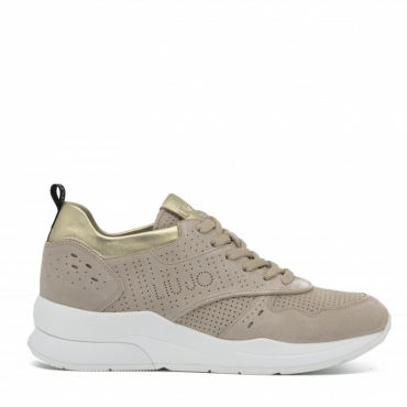 Sneakers Karlie 14 stringate forellate SAND