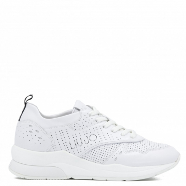 Sneakers Karlie 14 bianche in pelle LEATHERWHITE