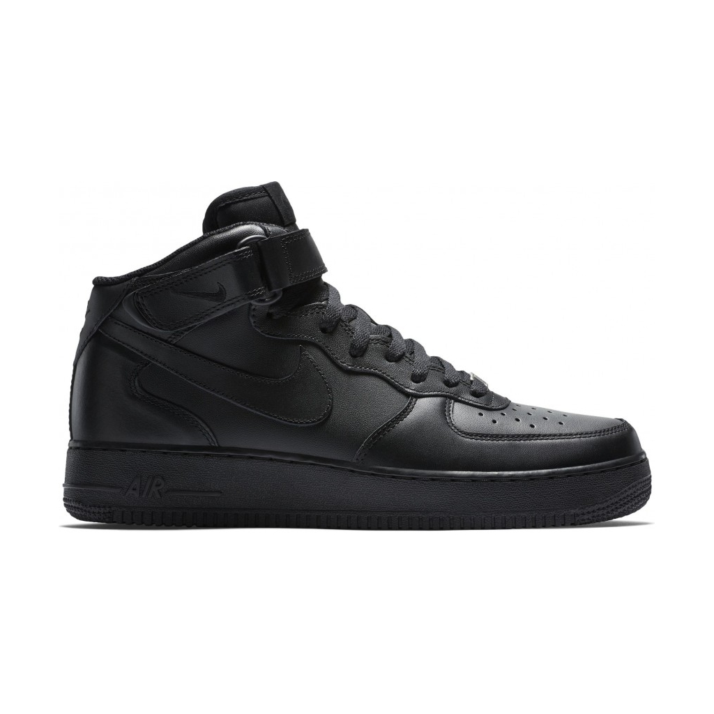 NIKE SCARPA ALTA AIR FORCE 1 MID 07 BLACKBLACKBLACK Sneakers