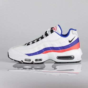 SCARPA BASSA AIR MAX 95 ESSENTIAL WHITE/BLACK/SOLAR RED