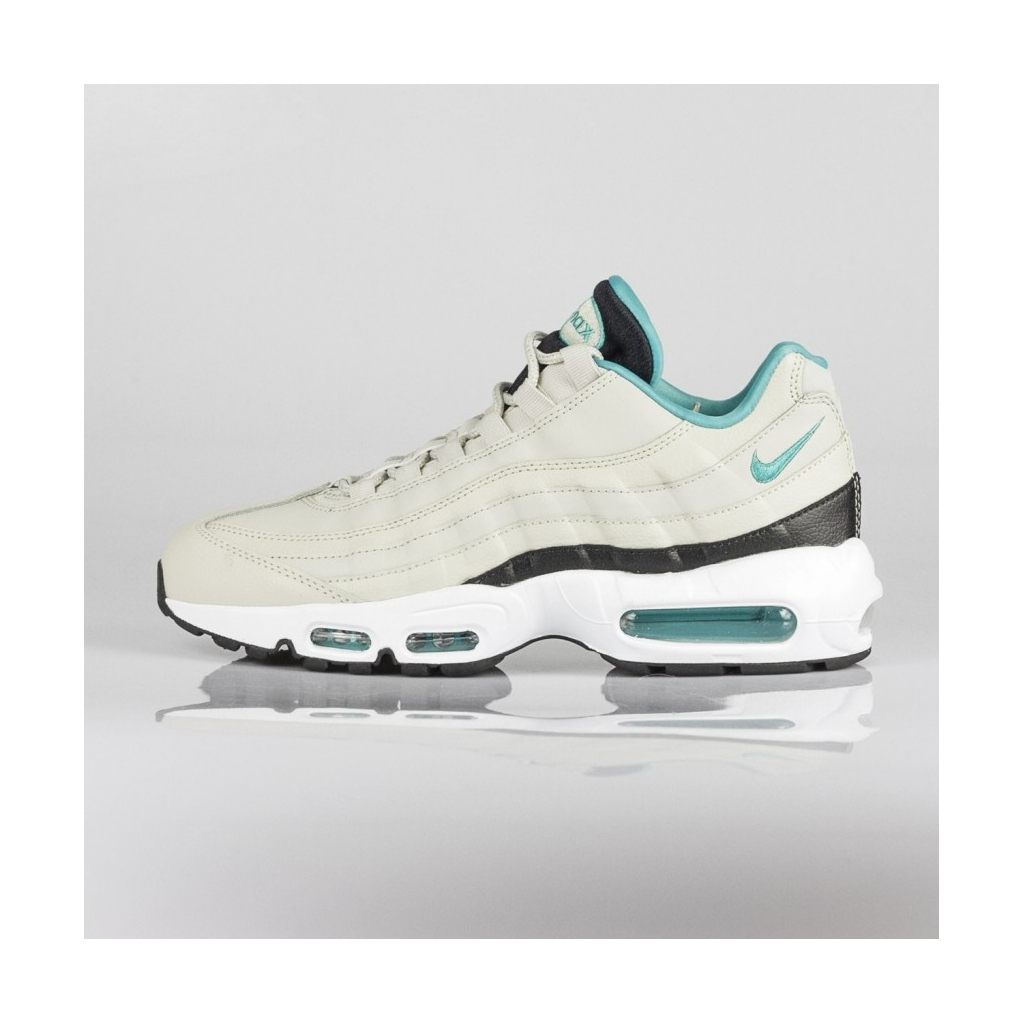 release date: 89b27 65407 LOW SHOE AIR MAX 95 ESSENTIAL LIGHT BONE   SPORT TURQ   BLACK