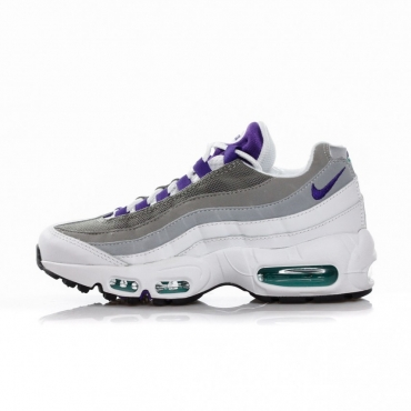 SCARPA BASSA WMNS AIR MAX 95 WHITE/COURT PURPLE