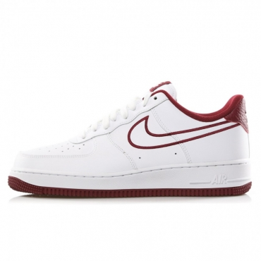 SCARPA BASSA AIR FORCE 1 07 LTHR WHITE/TEAM RED