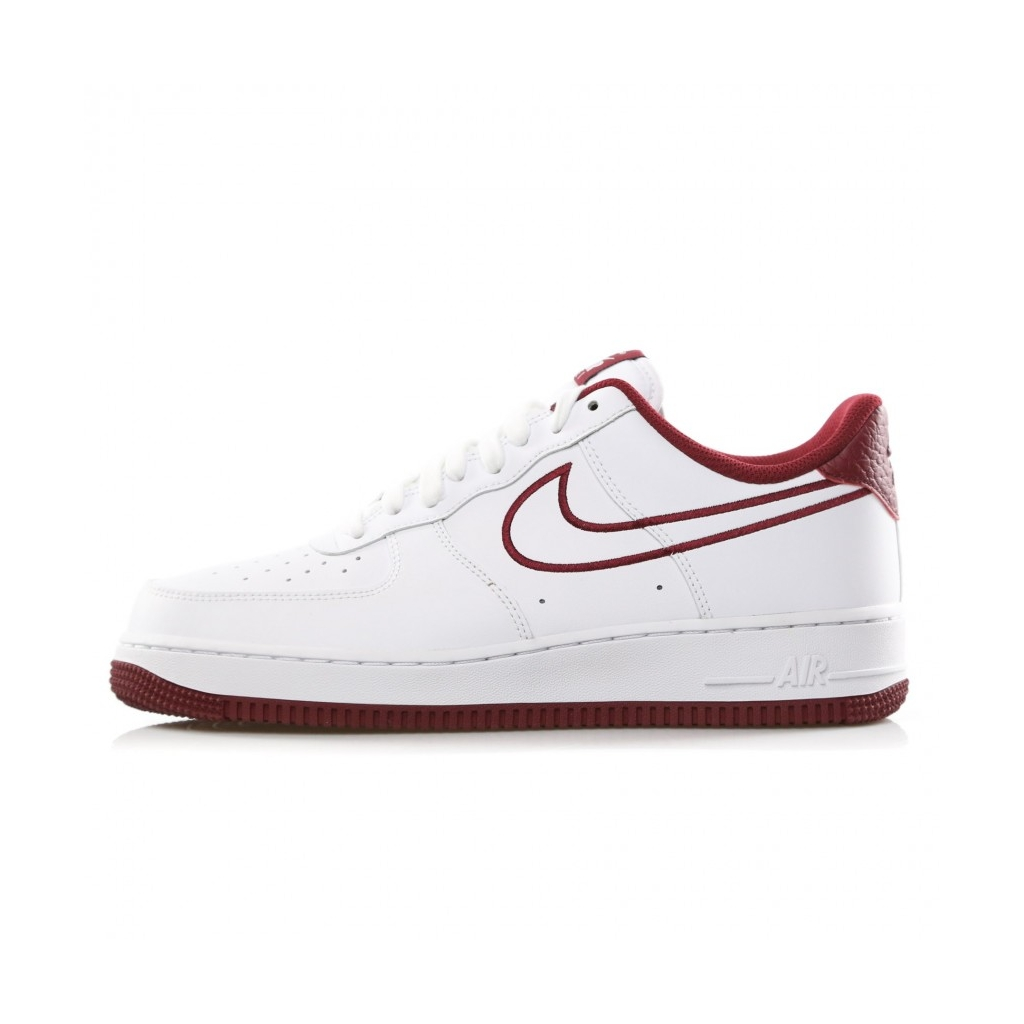 1257ffd887f AIR FORCE LOW SHOE 1 07 LTHR WHITE   TEAM RED