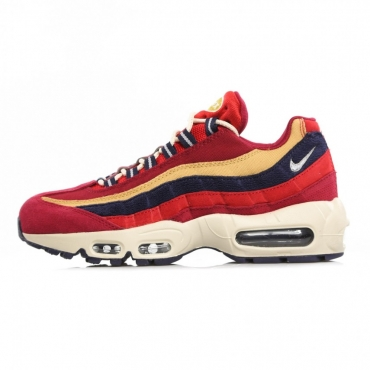SCARPA BASSA AIR MAX 95 PRM RED CRUSH/PROVENCE PURPLE/WHEAT GOLD
