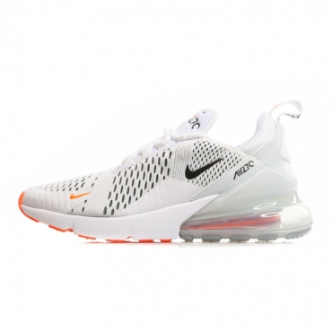SCARPA BASSA AIR MAX 270 WHITE/BLACK/TOTAL ORANGE