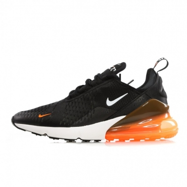 SCARPA BASSA AIR MAX 270 BLACK/WHITE/TOTAL ORANGE