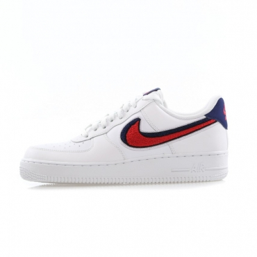 SCARPA BASSA AIR FORCE 1 07 LV8 WHITE/UNIVERSITY RED/BLUE VOID