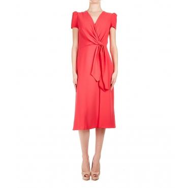 Mini abito con dettaglio fiocco Pink