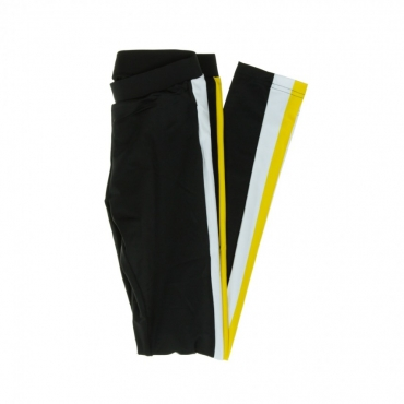 LEGGINS SIDE STRIPE BLACK/WHITE/YELLOW