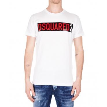 T-shirt con scritta logo White