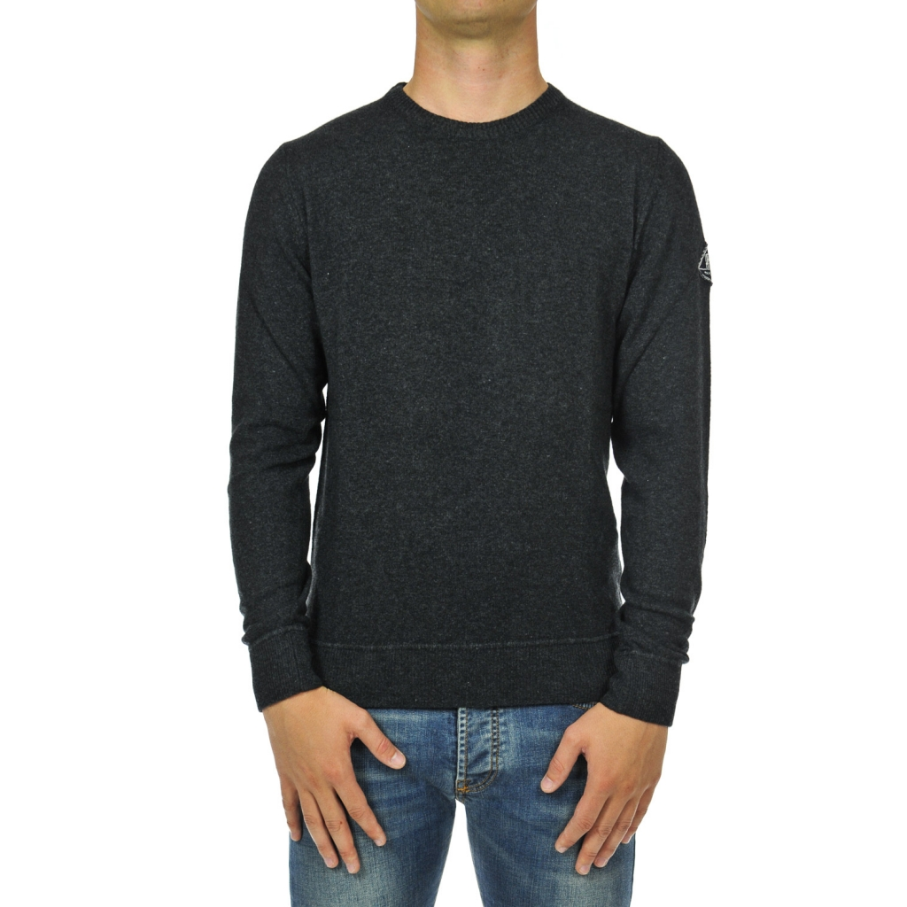 Anthracite wool crew neck sweater
