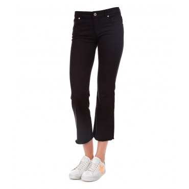 Cropped Jeans Black