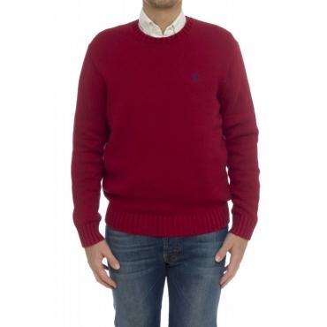 Camicia - 727573 maglia cotone grosso girocollo ROSSO CHIARO