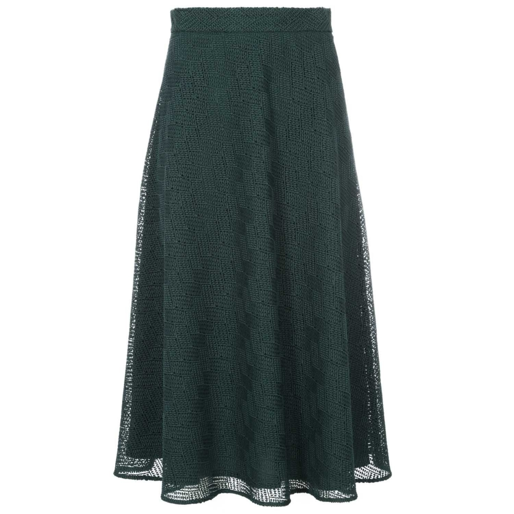 to buy 8d922 5e809 Marella - Gonna lunga verde in macram GREEN/GREY - Gonna Lunga |Bow...