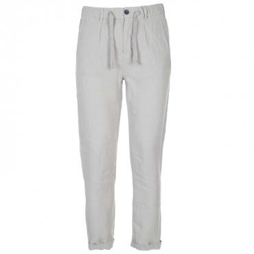 Pantaloni in lino con coulisse in vita PERLA