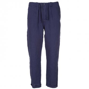 Pantaloni in lino con coulisse in vita BLUCHINA