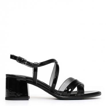 Sandali open toe con cinturino e tacco 6cm 100