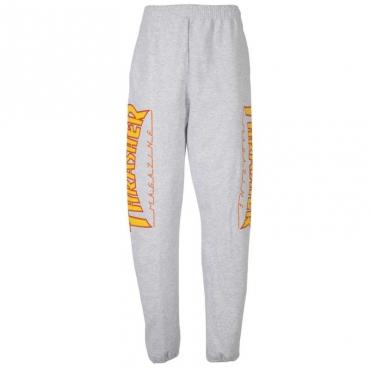 Pantaloni di tuta con loghi infiammati laterali GREY