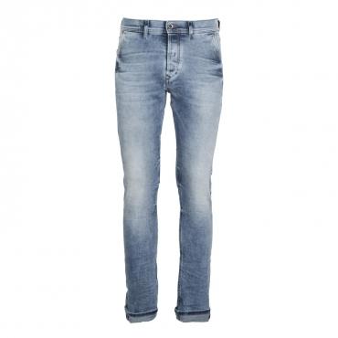Kakee jeans in denim chiaro slim carrot 01