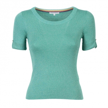 T-shirt girocollo in filato metallico G370LIGHTGRE