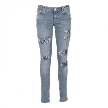 Ultra skinny jeans con inserti in pizzo  IGSE