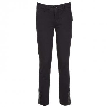 Jeans Chino con applicazioni strass 22222NERO