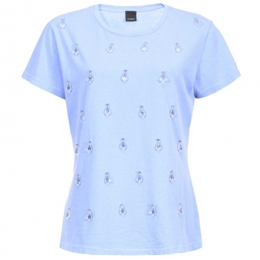 T-shirt Doris con applicazioni a forma di goccia di rugiada G52LIGHTBLUE