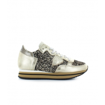 SNEAKER TROPEZ HIGHER FLOCK PLATINO PHILIPPE MODEL