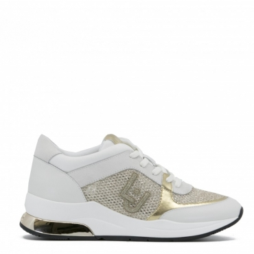 Sneakers Karlie 12 bianche e dorate WHITE