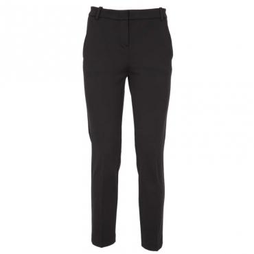 Pantaloni in viscosa tecnica cigarette-fit Z99BLACK