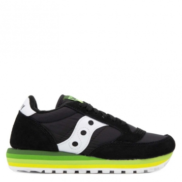 Sneakers Jazz O Rainbow nere BLACK/GREEN