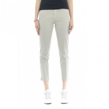 Pantalone donna - Melitas 4200 tinta unita 7/8 W075 - Grigio
