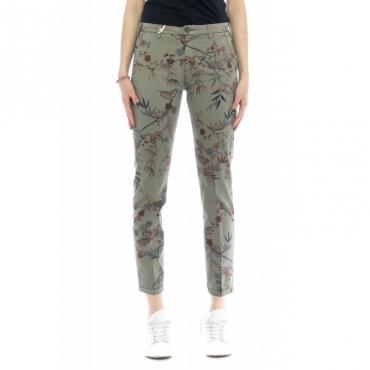 Pantalone donna - Briana 4285 skinny stampa W1922