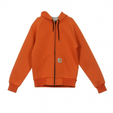 GIUBBOTTO CAR-LUX HOODED JACKET PERSIMMON/GREY