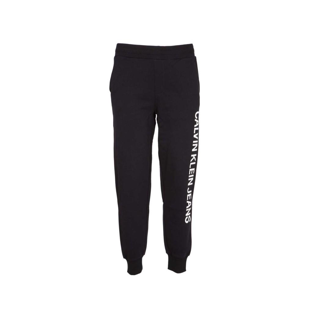 new arrival 6ec15 9648b Calvin Klein - Pantaloni da tuta neri in tessuto 099CKBLACK - Jeans...