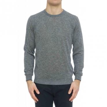 Maglia uomo - 7014/01 maglia girocollo melange 17 - Blu