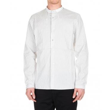 Camicia a strisce in misto seta White