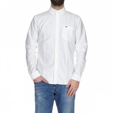 Camicia Tommy Hilfiger Uomo Cotone Classic Oxford 100 CLASSICWHITE