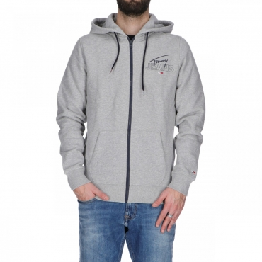Felpa Tommy Hilfiger Uomo Graphic Zip Thru LT GREY