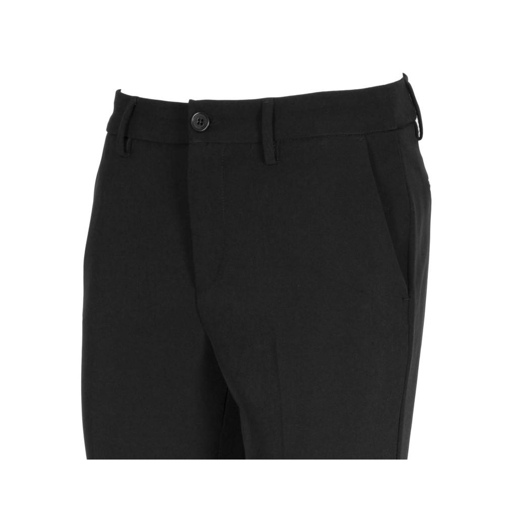 Pantaloni a sigaretta con risvolti 22222NERO 03a2ce96f1c