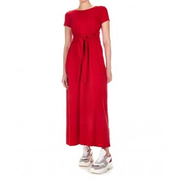 Maxi abito stile t-shirt Red