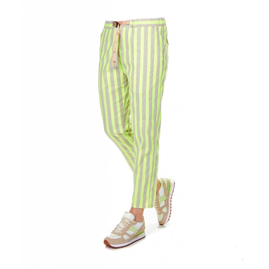 cdaf1707bd White Sand - Pantaloni con righe in fluo Beige - Donna |Bowdoo.com