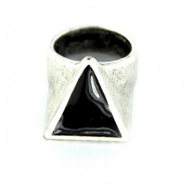 ANELLO PIETRO FERRANTE RING D2812N TRIANGOLO Silver/Black unico
