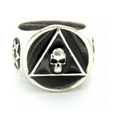 ANELLO PIETRO FERRANTE RING 2731 TRIANGOLO TESCHIO Black unico