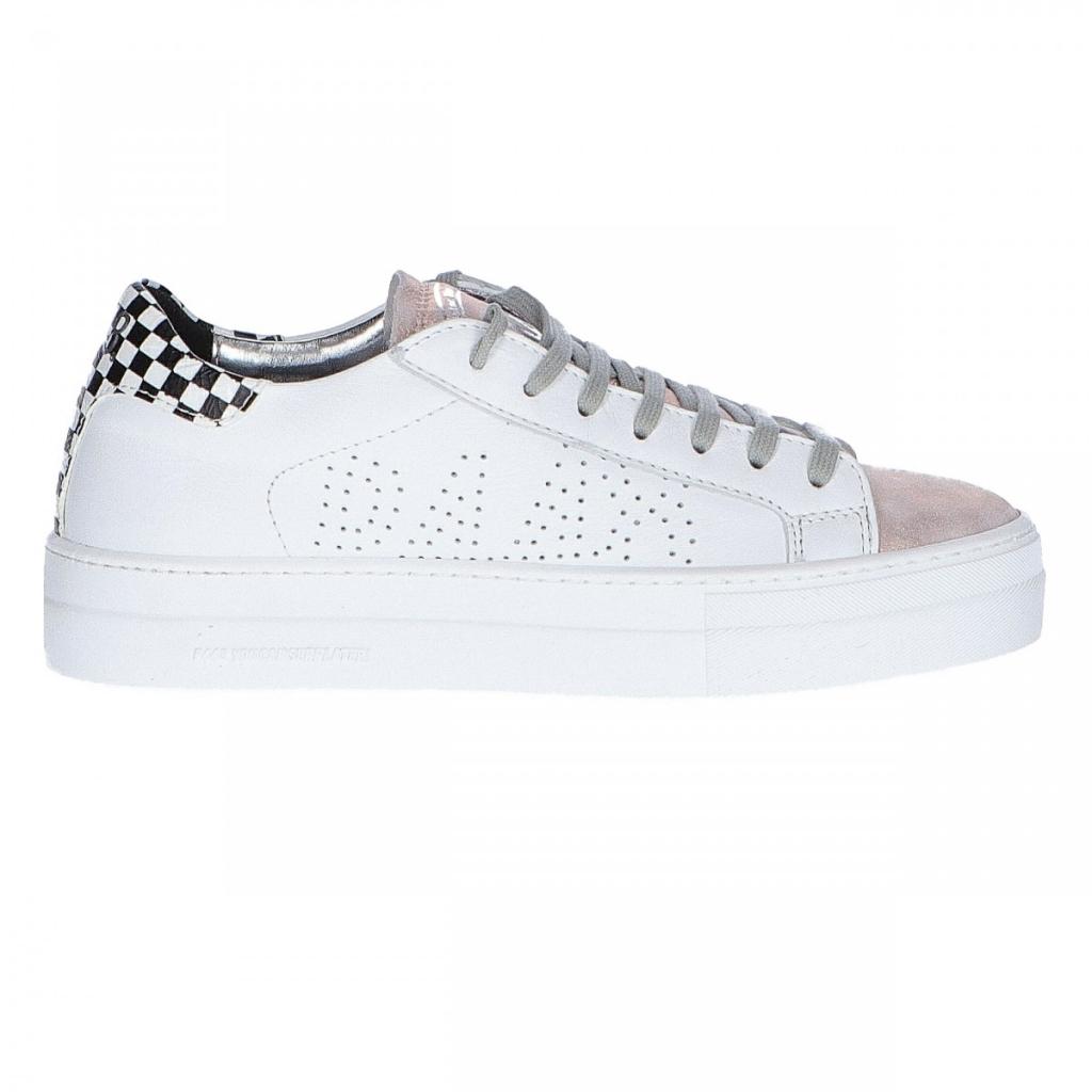 scarpe di separazione b78d3 acd99 P448 Women's E9 Thea White Retro Check Shoes | Bowdoo.com