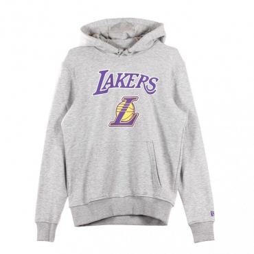 FELPA CAPPUCCIO TEAM LOGO PO HOODY LOSLAK LIGHT GREY HEATHER/PURPLE/GOLD