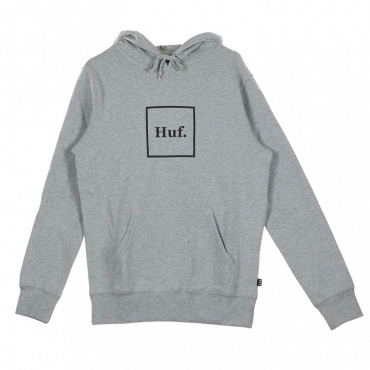 FELPA CAPPUCCIO BOX LOGO GREY HEATHER
